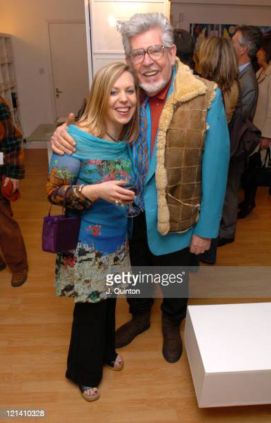 Bindi Harris and Rolf Harris during Bindi Harris Exhibition Launch at Lang Gallery in London Great Britain