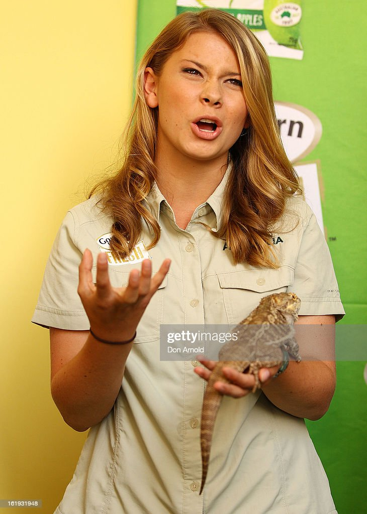 Bindi Irwin addresses the audience during the Goulburn Valley Fresh launch at Martin Place on February 18, 2013 in Sydney, Australia.