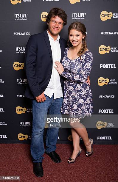 Bindi Irwin and boyfriend Chandler Powell walk the red carpet at Country Music Channel Awards 2016 at the Queensland Performing Arts Centre on March...