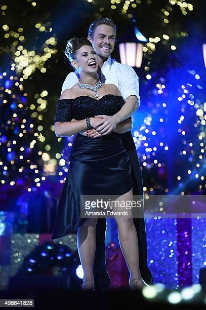 Bindi Irwin and Derek Hough attend ABC's 'Dancing With The Stars' Live Finale at The Grove on November 24 2015 in Los Angeles California
