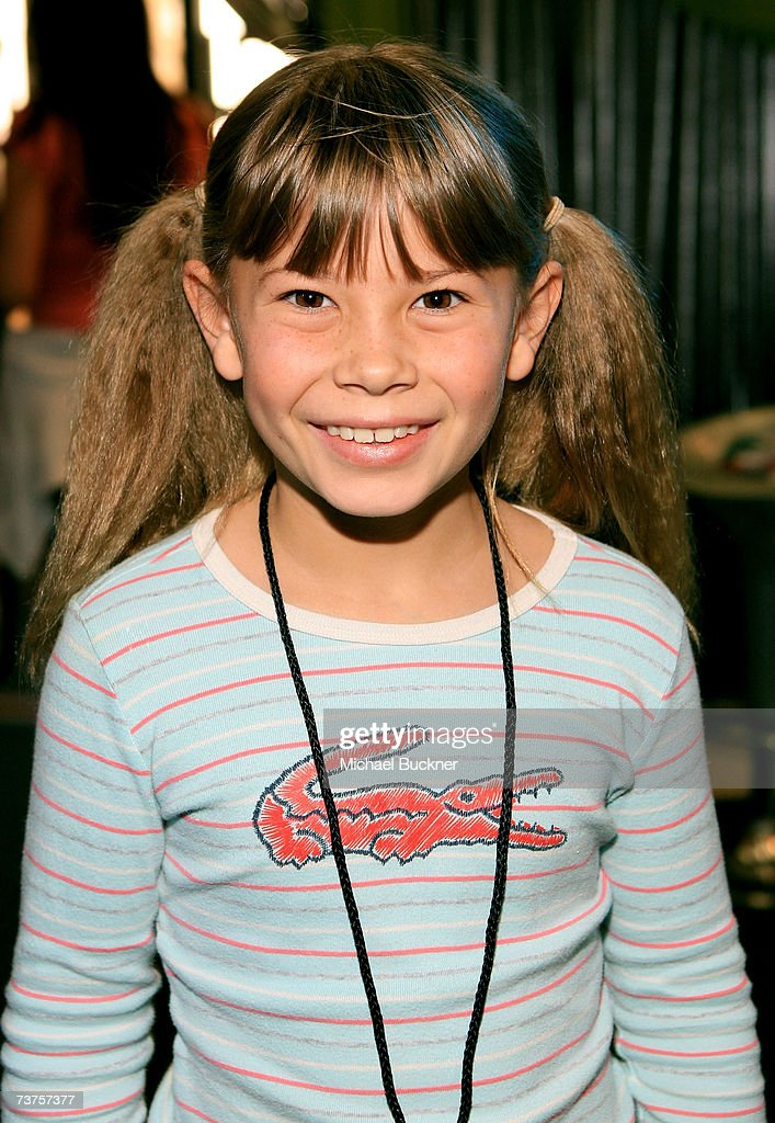 Bindi Irwin poses in the Distinctive Assets gift lounge during the 20th annual Kid's Choice Awards at Pauley Pavilion on March 31 2007 in Los Angeles...