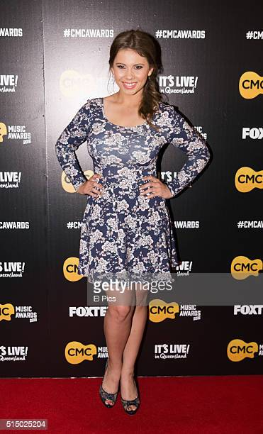 Bindi Irwin walks the red carpet at Country Music Channel Awards 2016 at the Queensland Performing Arts Centre on March 10 2016 in Brisbane Australia