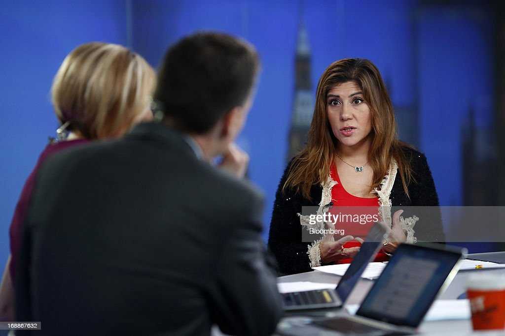 Bindi Karia, vice president - accelerator at Sililcon Valley Bank, right, speaks during a Bloomberg Television interview in London, U.K., on Thursday, May, 16, 2013. SVB Financial, the parent of Silicon Valley Bank, serves about half of U.S. venture-backed companies. Photographer: Simon Dawson/Bloomberg via Getty Images