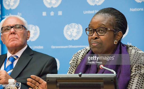 Bineta Diop answers a reporter's question The Office for the Special Adviser on Africa held a press conference at the United Nations on the occasion...