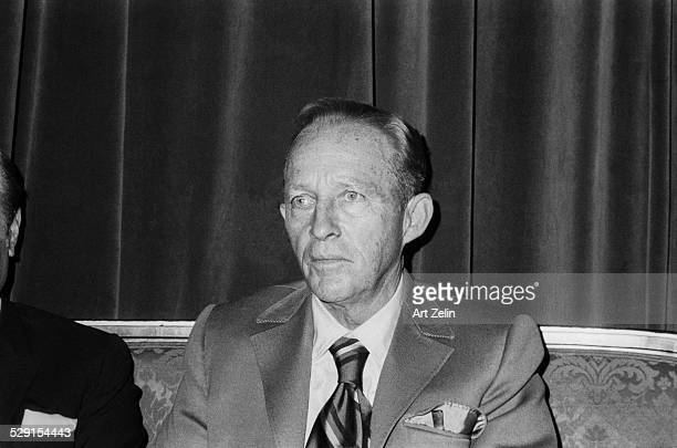 Bing Crosby seated closeup circa 1970 New York