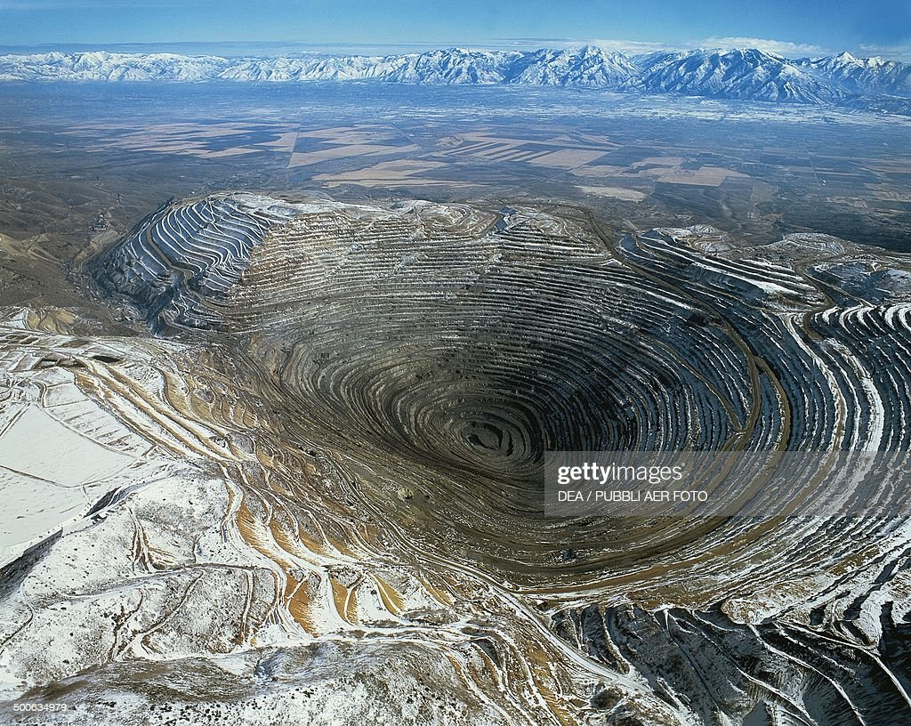 Bingham Canyon Mine also known as the Kennecott Copper Mine Utah United States of America