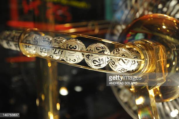 Bingo balls are displayed at the 'Bingo Re' gambling arcade on March 5 2012 in Rome Despite a grinding recession in Italy and austerity measures that...