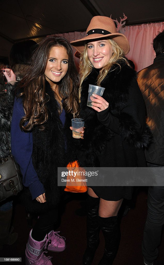 Binkie Feldstead and Cheska Hull attend The UK's first Catwalk on Ice from Very.co.uk, held at the Tower of London Ice Rink, gave shoppers a more entertaining way to shop their Christmas outfits this season at Tower of London on December 10, 2012 in London, England.