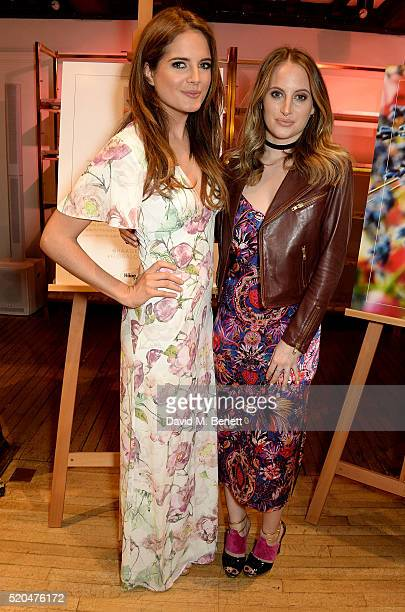 Binky Felstead and Rosie Fortescue attend the Liberty x HaagenDazs launch party at Liberty on April 11 2016 in London England