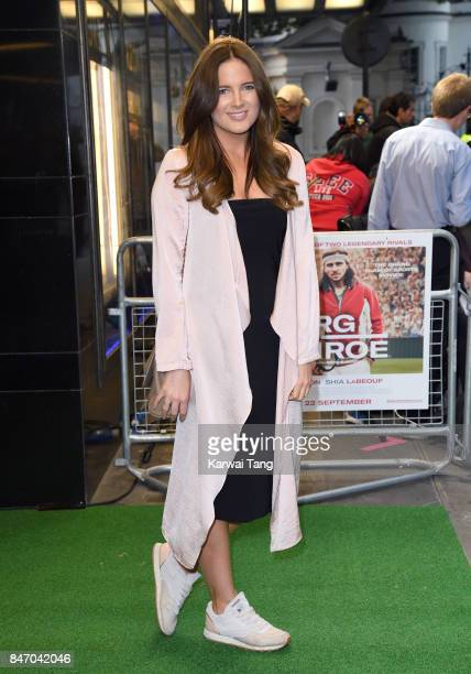 Binky Felstead attends the UK premiere of 'Borg vs McEnroe' at the Curzon Mayfair on September 14 2017 in London England