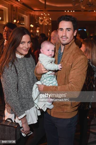 Binky Felstead Josh Patterson and their daughter India attend the Aspinal of London presentation during London Fashion Week September 2017 on...