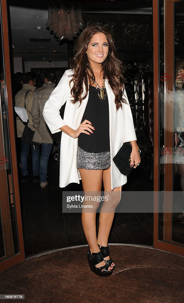 Binky Felstead leaving Sanctum Hotel on September 18, 2013 in London, England.