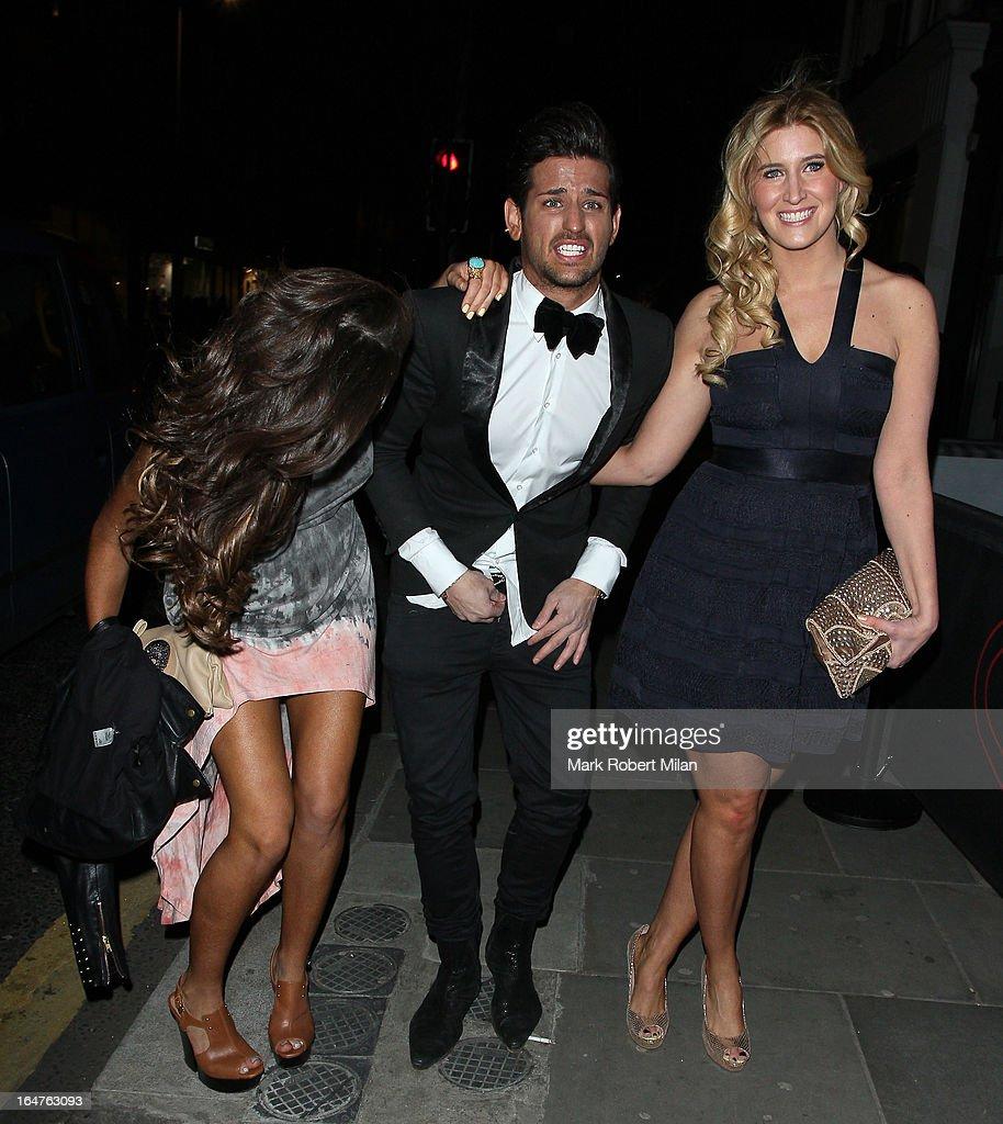 Binky Felstead, Ollie Locke and Francesca Hull at 151 Kings Road on March 27, 2013 in London, England.