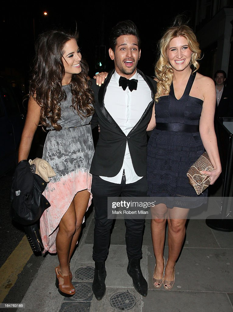 Binky Felstead, Ollie Locke and Francesca Hull at 151 Kings Road on March 27, 2013 in London, England.