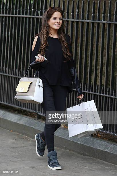 Binky Felstead previews debut collection with Lipstick Boutique on September 10 2013 in London England