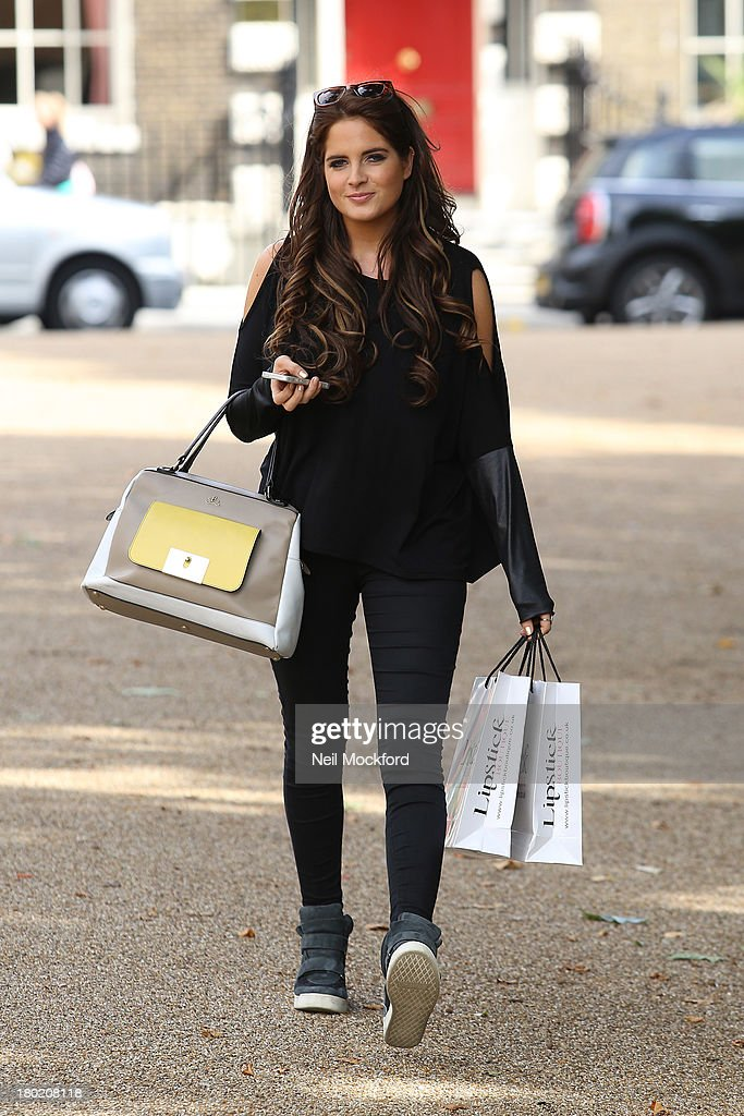 <a gi-track='captionPersonalityLinkClicked' href=/galleries/search?phrase=Binky+Felstead&family=editorial&specificpeople=7956649 ng-click='$event.stopPropagation()'>Binky Felstead</a> previews debut collection with Lipstick Boutique on September 10, 2013 in London, England.