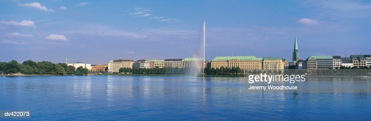 Binnenalster, Hamburg, Germany : Stock Photo