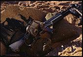 Binoculars and M16 Rifle