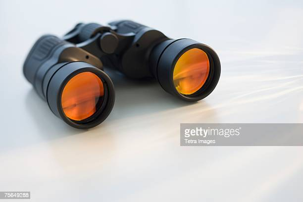 Binoculars on table