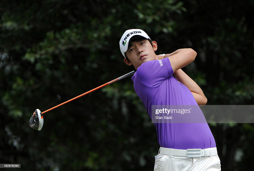 Bio Kim of South Korea hits a drive on the eighth hole during the third round of the Colombia Championship at Country Club de Bogota on March 2, 2013 in Bogota, Colombia.