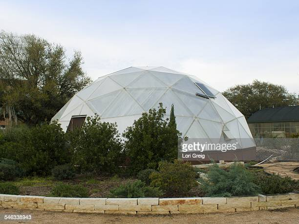 Biodome greenhouse with solar panels in Houston Texas March 13 2015
