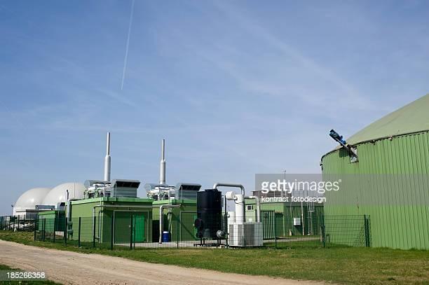 Bioenergie, la biomasa Planta de energía, Alemania.