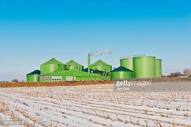 Industrie Biogas fahren im winter