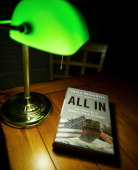 Biographer Paula Broadwell's book 'All In The Education of General David Petraeus' is seen on a desk in Manassas Virginia on November 13 2012...