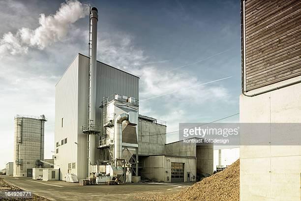 Biomasa planta, Fernwaerme, Blockheizkraftwerk, Energiewende, Alemania