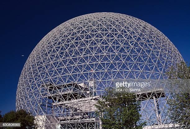 Biosphere Environment museum geodesic dome designed for Expo 67 by Richard Buckminster Fuller for the United States Pavilion Ile SainteHelene...