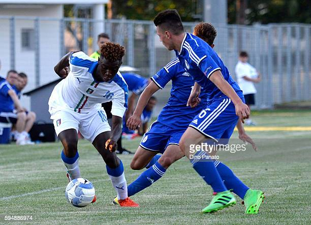 Bioty Moise Kean of Italy U16 in action during the International Friendly between Italy U16 and Bosnia U16 at Stadio Enzo Bearzot on August 24 2016...