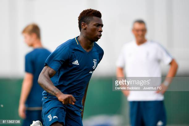 Bioty Moise Kean of Juventus during the afternoon training session on July 9 2017 in Vinovo Italy