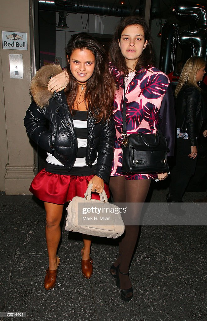 Bip Ling and Evangeline Ling sighted at the Storm model agency party during London Fashion Week on February 17, 2014 in London, England.