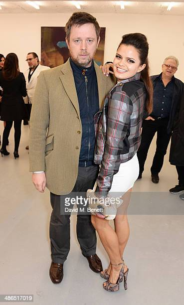 Bip Ling and father William Ling attend a private view of 'Julian Schnabel Every Angel Has A Dark Side' in aid of Chickenshed at The Dairy Art Centre...