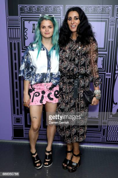Bip Ling and Serena Rees attend the World of Anna Sui Exhibition Private View at the Fashion and Textile Museum on May 25 2017 in London England