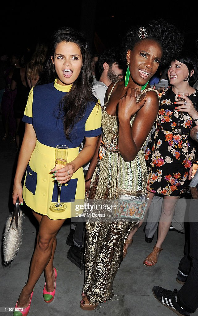Bip Ling (L) and Shingai Shoniwa attend the Warner Music Group Pre-Olympics Party in the Southern Tanks Gallery at the Tate Modern on July 26, 2012 in London, England