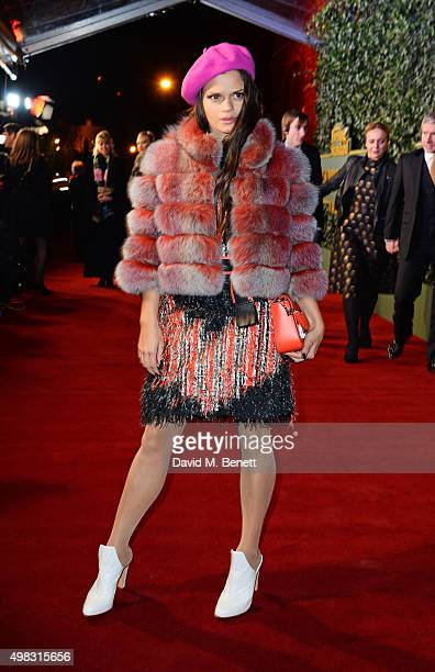 Bip Ling arrives at The London Evening Standard Theatre Awards in partnership with The Ivy at The Old Vic Theatre on November 22 2015 in London...