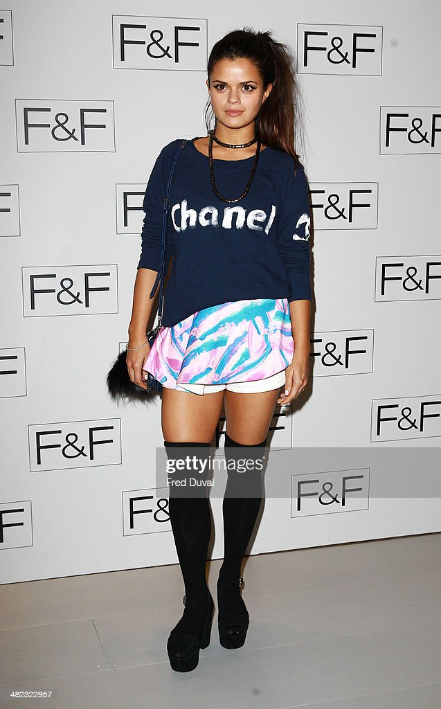 Bip Ling attends the F&F aw14 Fashion show at Somerset House on April 3, 2014 in London, England.