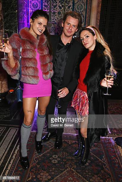 Bip Ling Christopher Kane and Louby McLoughlin attend a private dinner to celebrate Hockley's 70th anniversary at Leighton House on November 19 2015...