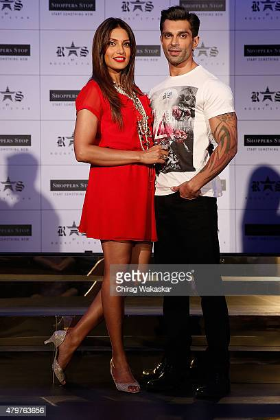 Bipasha Basu Karan Singh Grover present Shoppers Stop's Rocky Star's RS brand at JW Marriott on July 7 2015 in Mumbai India