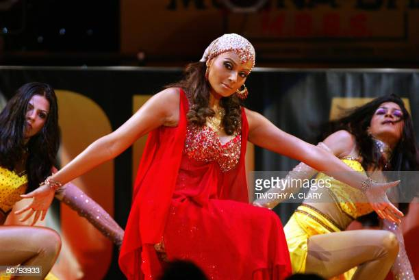 Bipasha Basu performs during the 2004 Bollywood Movie Awards at the Trump Taj Mahal 01 May 2004 in Atlantic City New Jersey The fourth Annual gala is...
