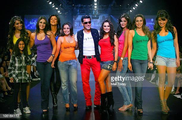 Bipasha Basu with Rene Kareena Kapoor Sushmita Sen Rani Mukherjee Salman Khan Preity Zinta Katrina Kaif Karisma Kapoor and Priyanka Chopra during the...