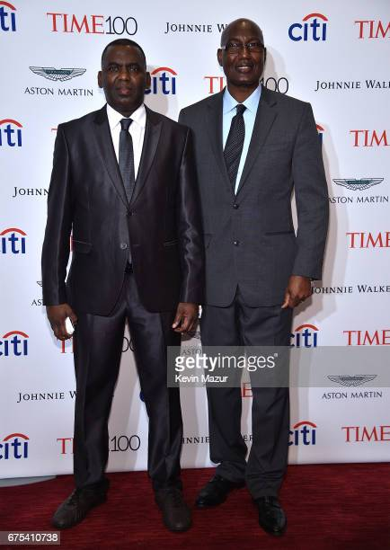 Biram Dah Abeid and Bakary Tandia attend 2017 Time 100 Gala at Jazz at Lincoln Center on April 25 2017 in New York City