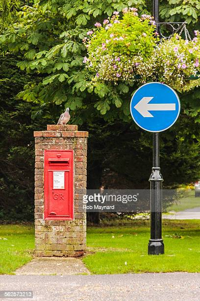 Bird and red box letter