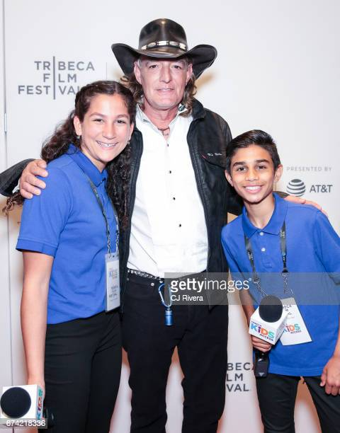 Bird and Tribeca Kids Access reporters attend the premiere of 'Dare to be Different' during the 2017 Tribeca Film Festival at Spring Studios on April...