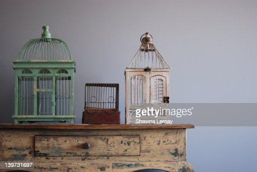 Bird cages : Stock Photo