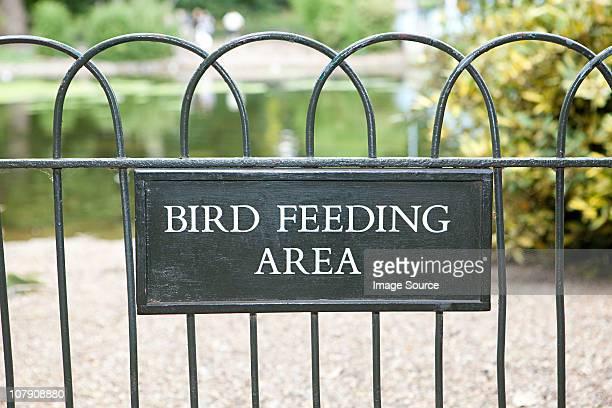 Bird feeding area, St James's Park, London