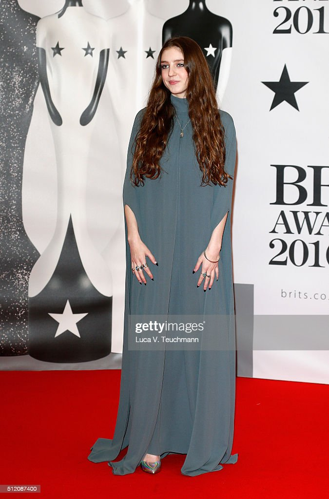 Birdie attends the BRIT Awards 2016 at The O2 Arena on February 24, 2016 in London, England.