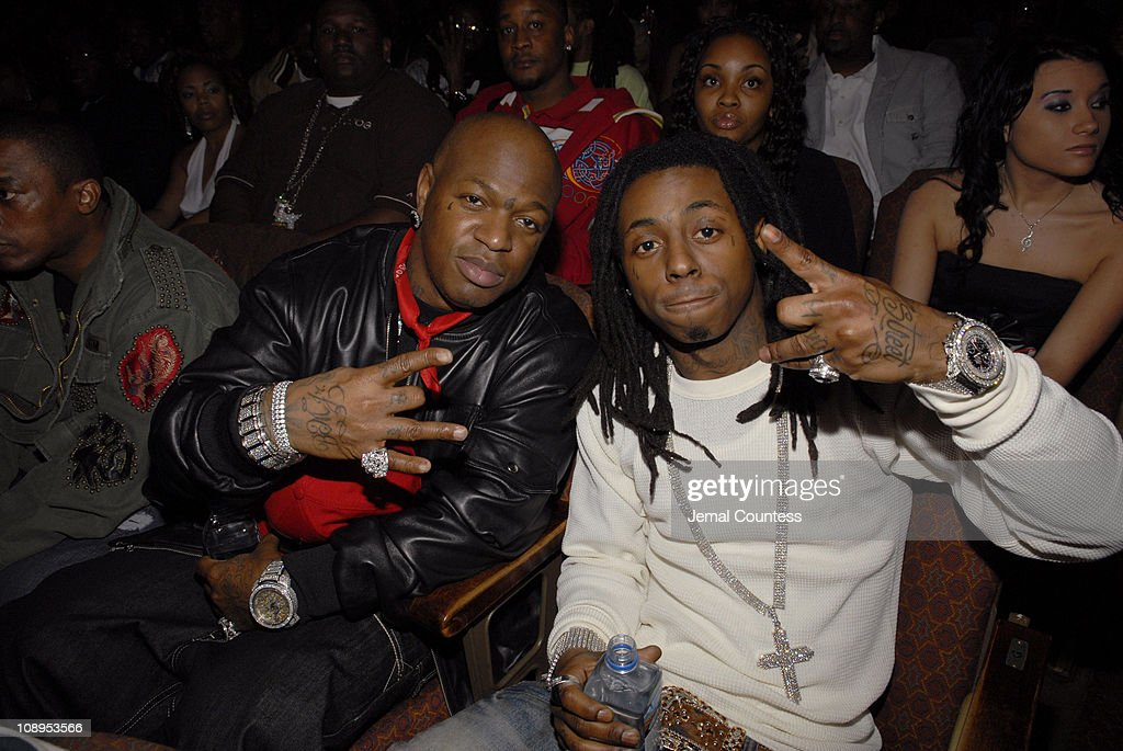 Birdman and Lil Wayne during 2006 BET HipHop Awards Audience and Backstage at Fox Theatre in Atlanta Georgia United States