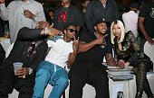 Birdman Lil Wayne Mack Maine and Nicki Minaj attend the 2013 BMI RB/HipHop Awards at Hammerstein Ballroom on August 22 2013 in New York City